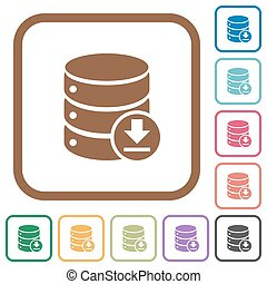 Backup database simple icons