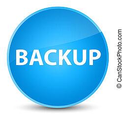 Backup elegant cyan blue round button