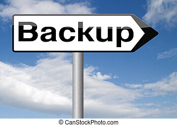 backup file - Backup data and software on copy in the cloud...
