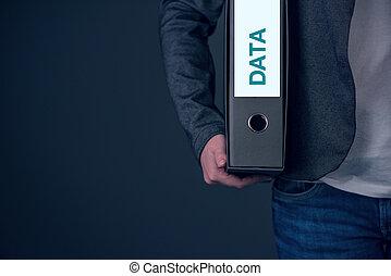 backup, firma, data, begreb, arkiv, og, beholde, pengeskab