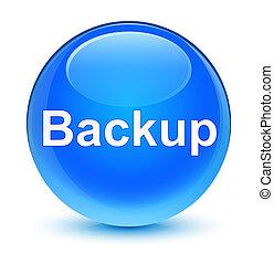 Backup glassy cyan blue round button