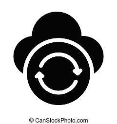 backup  glyph flat icon