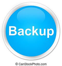 Backup premium cyan blue round button