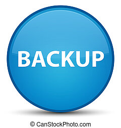 Backup special cyan blue round button