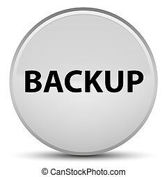 Backup special white round button