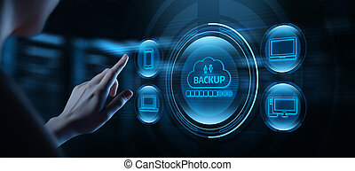 Backup Storage Data Internet Technology Business concept