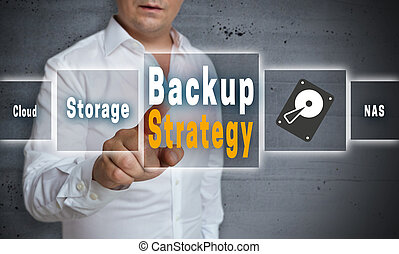 Backup Strategy touchscreen concept background