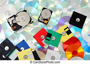 backup technologies background - data background (floppy...