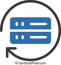 backup vector glyph colour icon