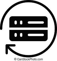 backup vector glyph flat icon