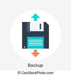 Backup - Vector illustration of backup flat design concept.