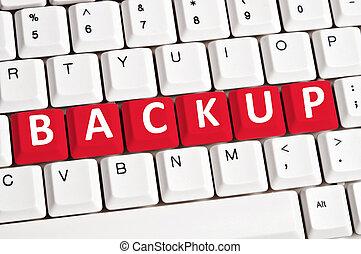 Backup word on keyboard