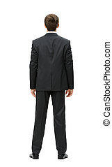 Backview of business man