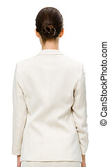 Backview of business woman