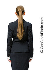 Backview of businesswoman