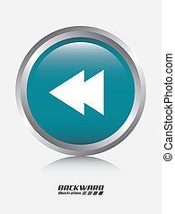 backward graphic design , vector illustration