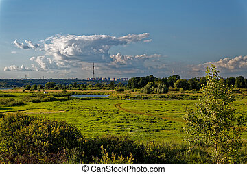 Backwoods of Central Russia. - A view of the river valley...