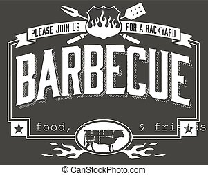 Backyard Barbecue Invitation - Invitation template for...