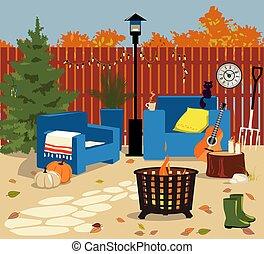 Backyard d?cor for fall