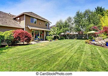 Backyard garden with beautiful landscape