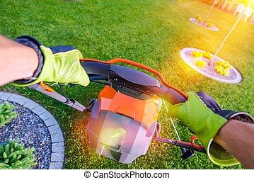 Backyard Grass Mowing