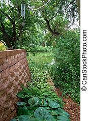 Backyard Landscaping Plants Pond