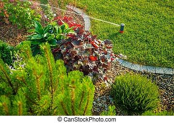 Backyard Lawn Sprinkler