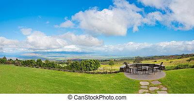 Backyard Lawn with View