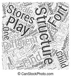 Backyard Play Structures for Children Word Cloud Concept