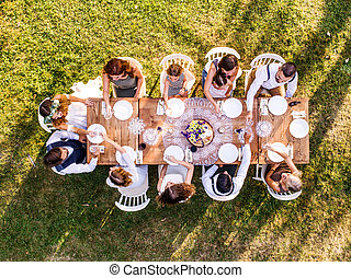 backyard., recepción wedding, exterior