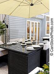 Backyard table