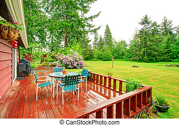 Backyard with patio area - Countryside house with walkout...