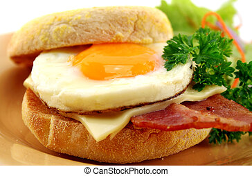 Bacon And Egg Muffin - Delicious bacon and egg muffin with...
