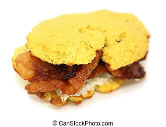 Bacon & Cream Cheese Keto Muffin