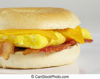 Bacon Egg Bagel Sand - Start your morning right with this...