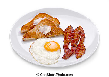 Bacon, Eggs and Toast
