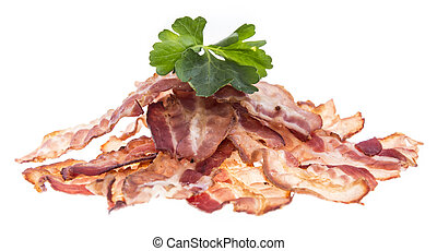 Bacon isolated on white