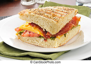 Bacon, Lettuce, Tomato and Cheese Panini - A BLT and cheese...
