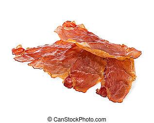 bacon on white background