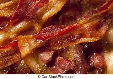 bacon, organisk, sjuklig, frasiga