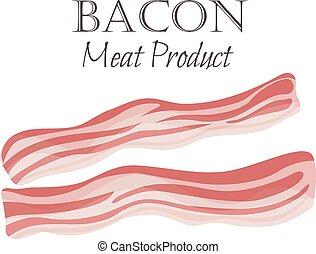 Bacon strips vector illustration