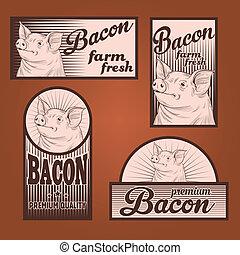 Bacon vintage labels