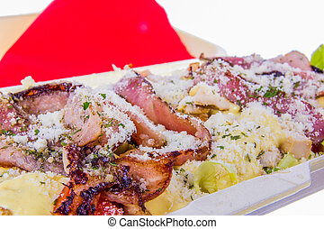 bacon with parmesan and mayonnaise