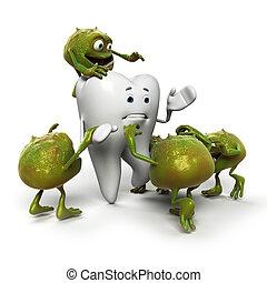 bactérias, dente