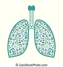 bacteria and virus in respiratory system, lung infection