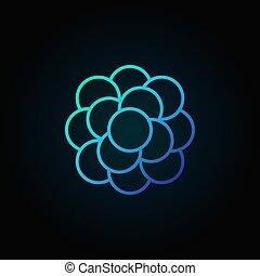 Bacteria blue vector linear icon or symbol