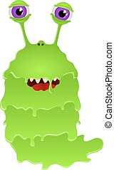 bacteria cartoon character monster