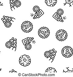 Bacteria Germs Seamless Pattern Vector