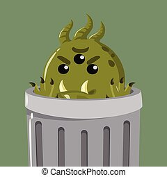 bacteria in the garbage can