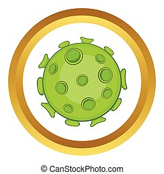 Bacteria or virus vector icon